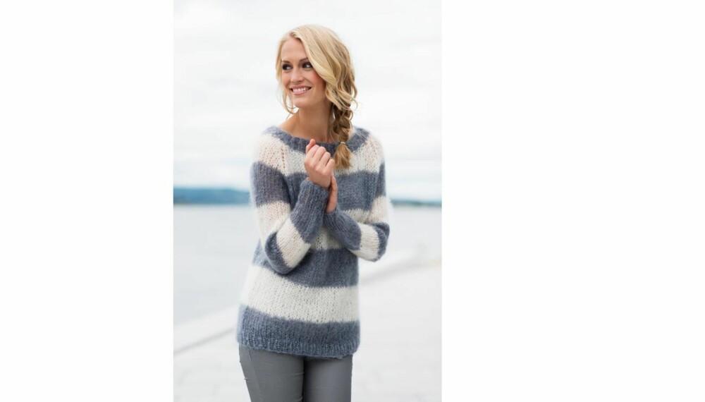 e97a7d0d Her gir vi deg oppskriften på en genser som både er lett å strikke og deilig  for kjølige vårdager. Et prosjekt for solveggen denne påsken?