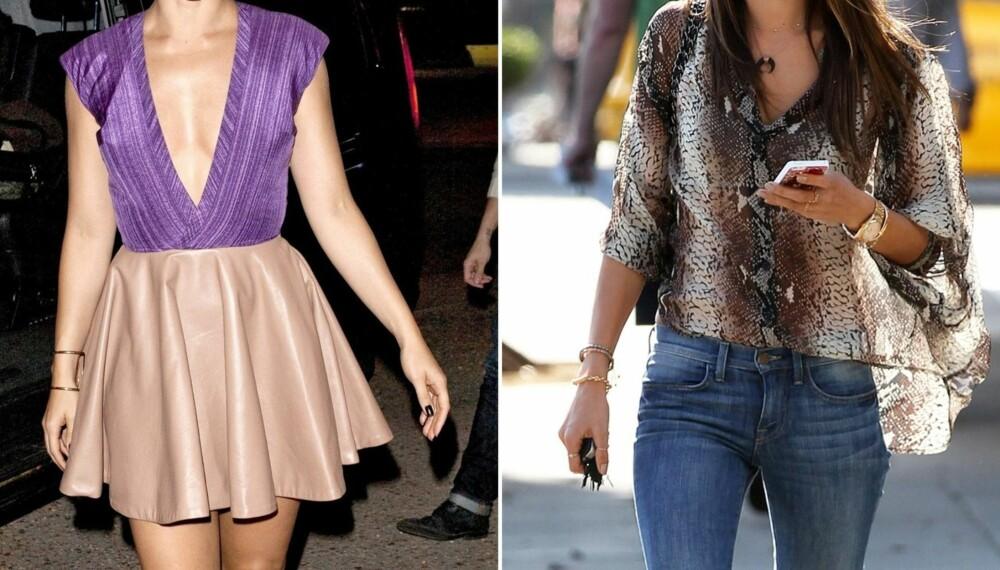 HVA FORETREKKER DU?: Vil du at dama dukker opp i utringning og kort skjørt eller jeans og en topp?