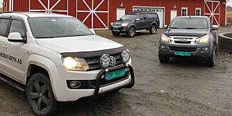 PICKUP-TEST: VW Amarok, Toyota Hilux og Isuzu D-Max