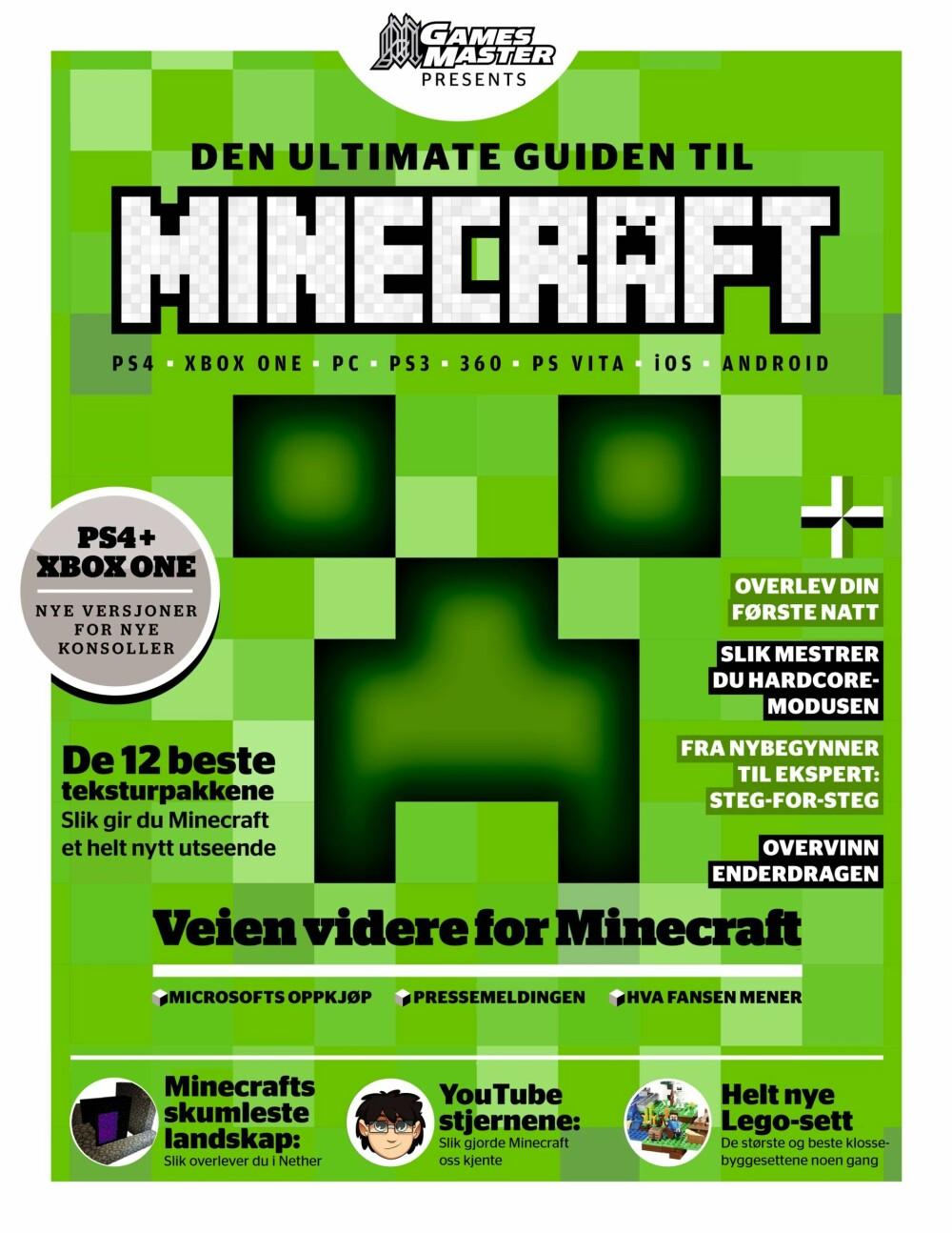 ALT OM MINECRAFT: Du kan fortsatt kjøpe Minecraft-boka vår på www.wimennshop.no.