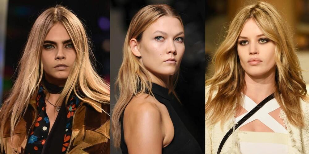 NAKED HAIR: Nå skal håret ditt se mest mulig naturlig og urørt ut. FOTO: Instagram Sonia Rykiel, Michael Kors, Stella Pictures