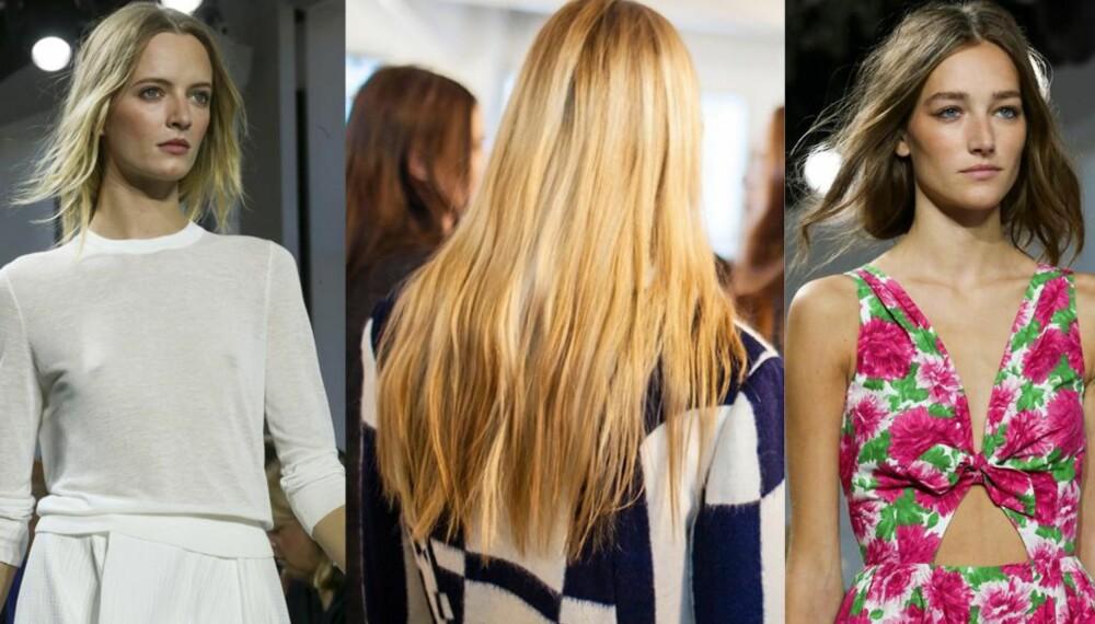 """NULL INNSATS-HÅR: Eller """"minimalt effort hair"""" som man ville sagt på engelsk om vårens heteste hårtrend. FOTO: Stella Pictures"""