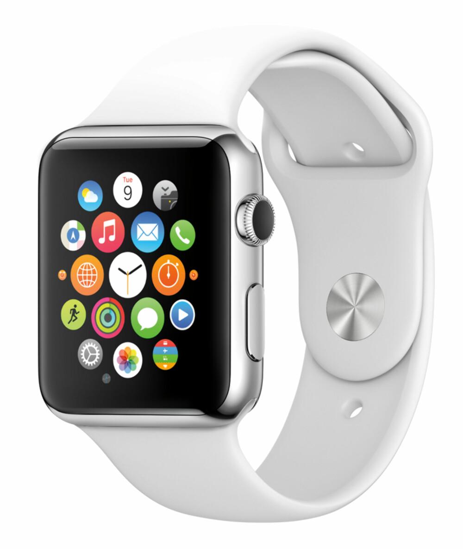 MYE INFORMASJON: Apple har laget et nytt grensesnitt til Apple Watch som gjør at de får plass til mye informasjon på en liten skjerm.