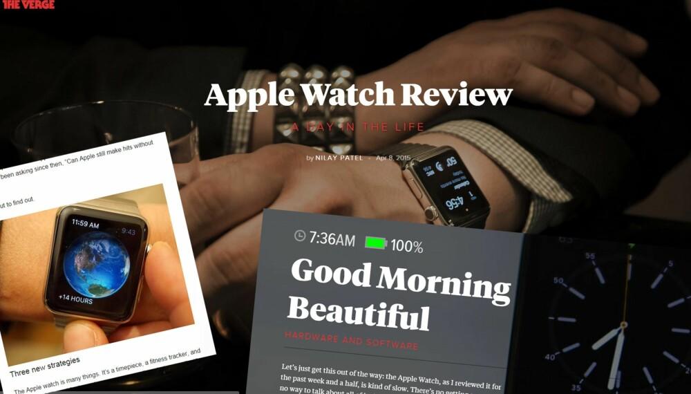 APPLE WATCH: Nå er de første testene av Apple Watch publisert.