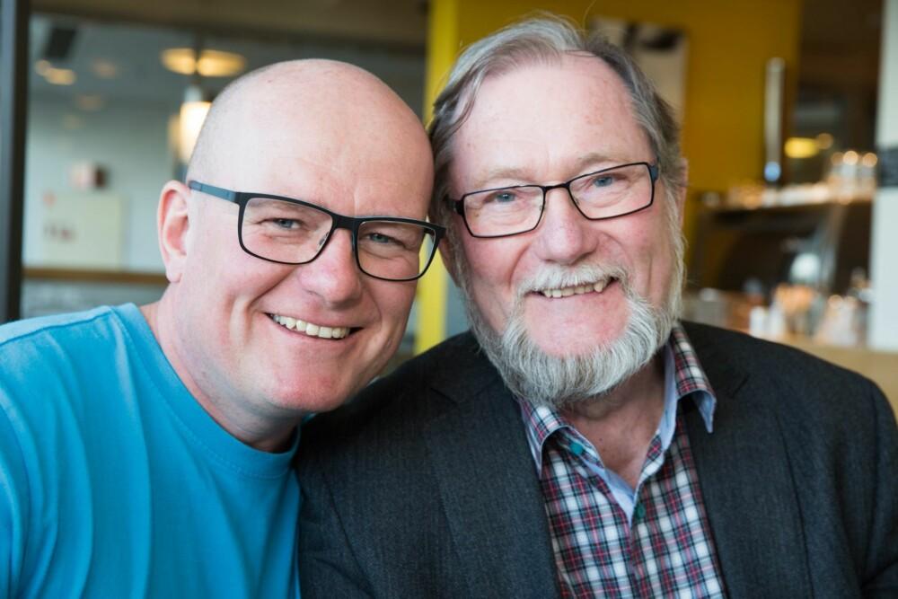NÆRT FORHOLD: Jan Erik har et godt og nært forhold til faren Jan Arnth Larssen.
