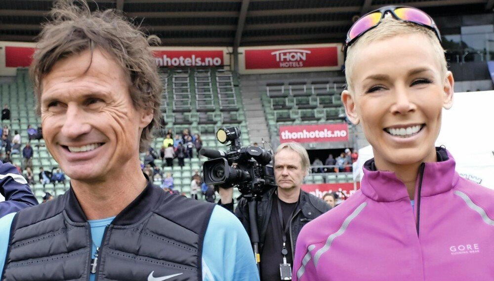 SAMMEN FOR UNICEF: Veldedighet betyr mye for Gunhild og Petter Stordalen. I helgen løp de for FNs hjelpeorganisasjon for barn under Holmenkollstafetten i Oslo.