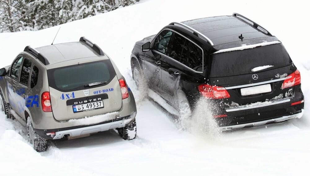 ALLE STØRRELSER: Biler med firehjulsdrift finnes i alle størrelser og fasonger.