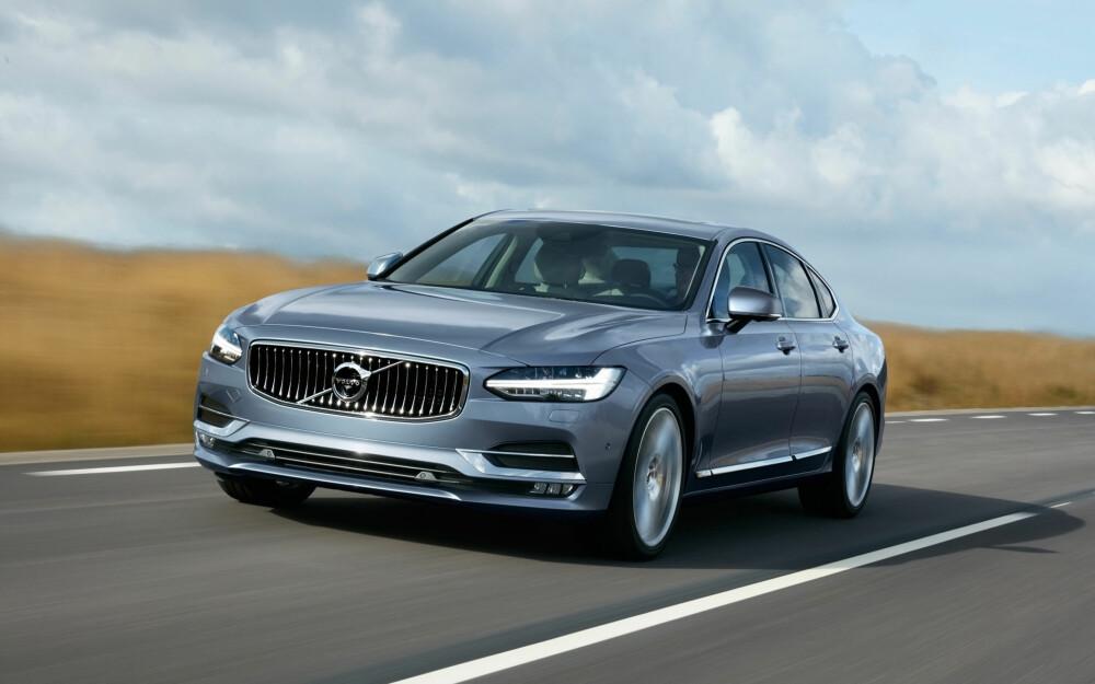 PREMIUM: Volvo prøver å ta opp kampen mot tyskerne med sine nye premiumbiler S90 og V90. Foto: Volvo