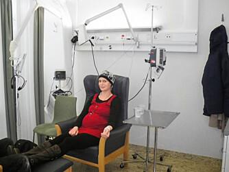 GRAVID OG SYK: Heike fikk cellegiftbehandling på Haukeland sykehus.