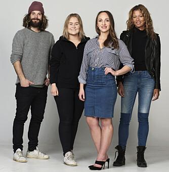 TEAMET (f.v.): Fotograf Lars Evanger, frisør og makeupstylist Christine Mellem, Kamille-modell Ann Charlotte og stylist Nadine Monroe.