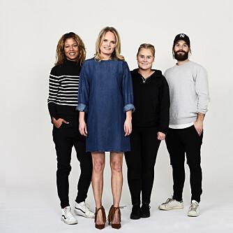 TEAMET: Fra venstre: Stylist Nadine Monroe, Kamille-modell Ida, frisør og makeupstylist Christine Mellem og fotograf Lars Evanger.