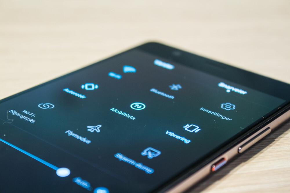 BRUKERVENNLIG: Huawei P9 Plus er en brukervennlig Android-mobil med en rekke Huawei-funksjoner som man oppdager litt etter litt.