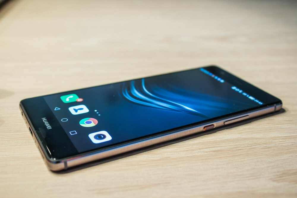 STOR: Huawei P9 Plus har en stor 5,5 tommers skjerm, men den oppleves likevel som en tynn og kompakt mobil.