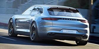 PANAMERA: Porsche Panamera Sport Turismo glir inn i samme klasse som Mercedes CLS Shooting Brake. FOTO: Porsche