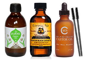 LAKSEROLJE: Pukka Castor Oil, Jamaican Castor Oil, SCS Castor Oil. FOTO: Produsentene.