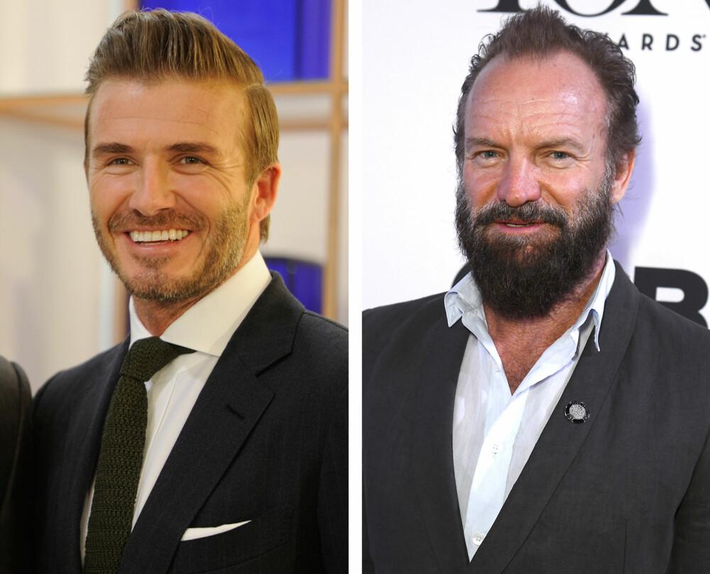 ULIKE SKJEGGLENGDER: Kort og godt som David Beckham, eller et større og lengre skjegg som Sting?
