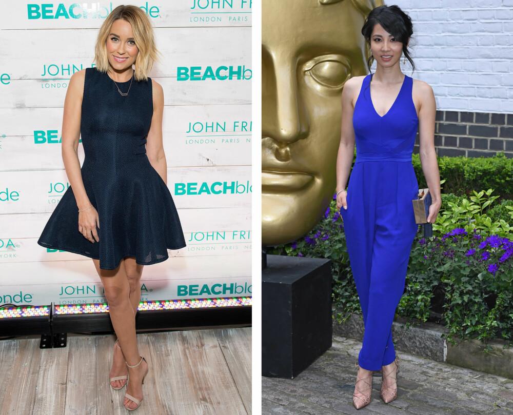 FLERE VALG: En A-formet kjole som Lauren Conrad (til venstre) har gått for et et kjempefint alternativ på 17. mai. Er du ikke helt kjoletypen, er en jumpsuit perfekt!