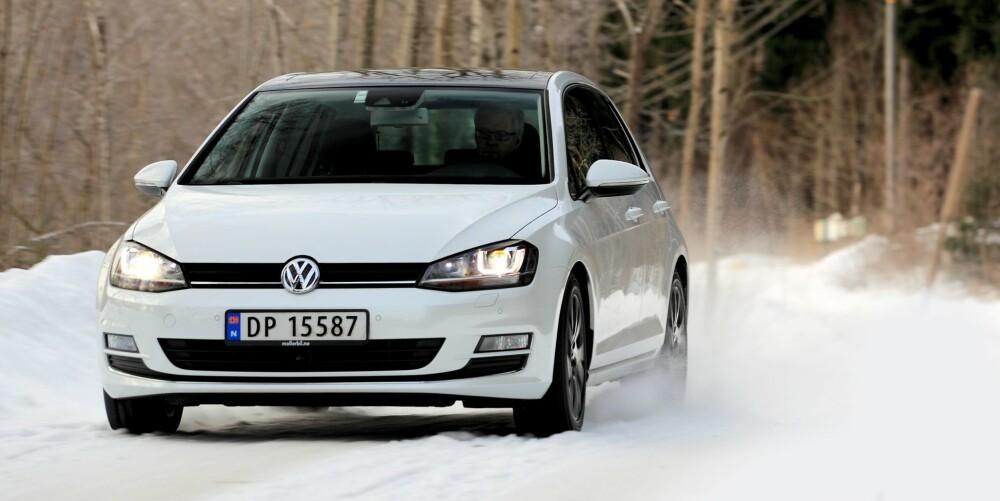 TØRSTERE: Golf med toliters diesel og firehjulsdrift er litt tørste enn med samme motor og forhjulsdrift. FOTO: Terje Bjørnsen