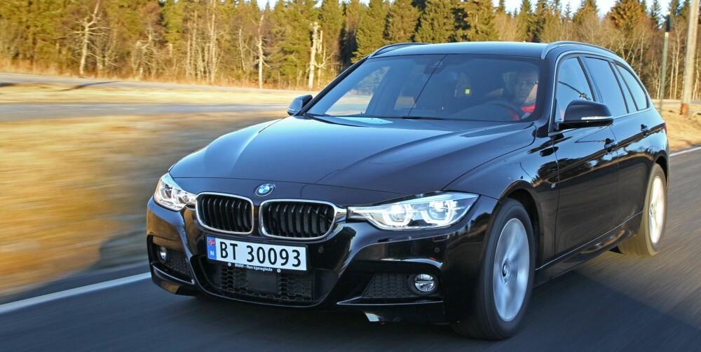 BMW 3-SERIE: Forbruksforskjellen med og uten firehjulsdrift er liten med dieselmotor, større med bensinmotor. FOTO: Petter Handeland