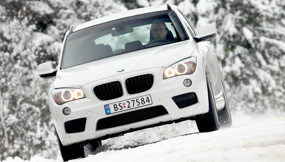 HØY KLASSE: BMW X1 ble belønnet med terningkast seks i vår test i 2011. Ifølge kontrollorganisasjonen Dekra er den også meget solid.