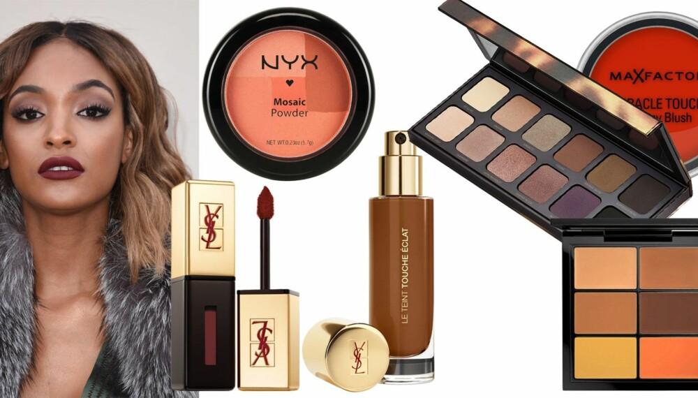SMINK FRAM GLØDEN: Makeupartist Tina Solberg har latt seg inspirere av Jourdan Dunn, og gir i denne saken sine beste sminketips.