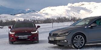 VW Passat og Ford Mondeo