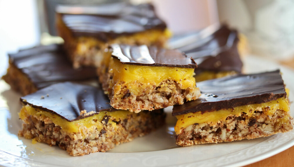 Populær: Veldig lurt at du har en hel langpannekake å by på, for denne kaken blir populær!