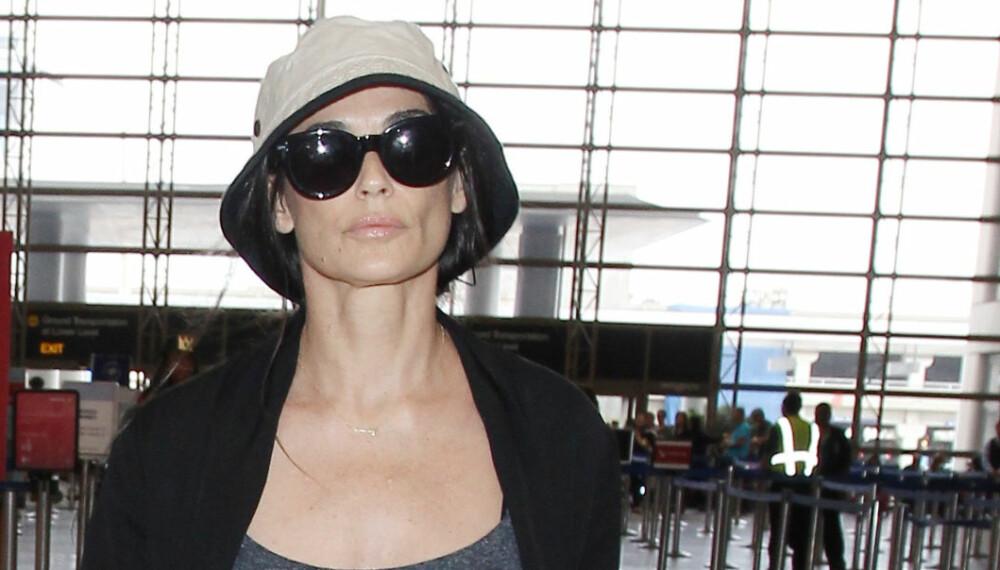 På tur: Demi Moore var i utlandet da det tragiske dødsfallet inntraff på eiendommen hennes.