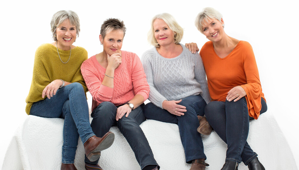 DEN BESTE TIDEN ER NÅ: Mens mange streber etter å holde seg unge, setter Kirsti, Sigrid, Mette og Kjersti pris på den friheten de har nå. Aksepter din egen alder og gjør det beste ut av den, er deres råd.