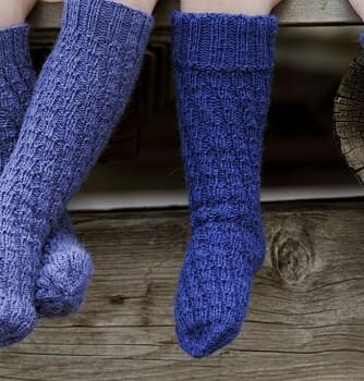 SPIRALSOKKER: Sokkene er enkle for barna å ta på selv fordi de ikke har hæl.