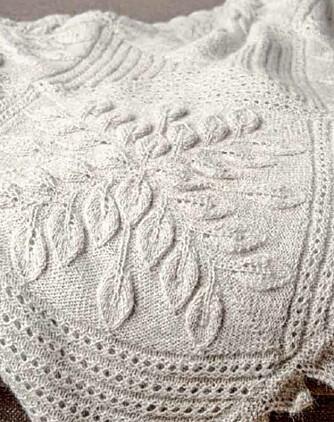 TUNTRETEPPET: Har du lyst å strikke dette lekre teppet?