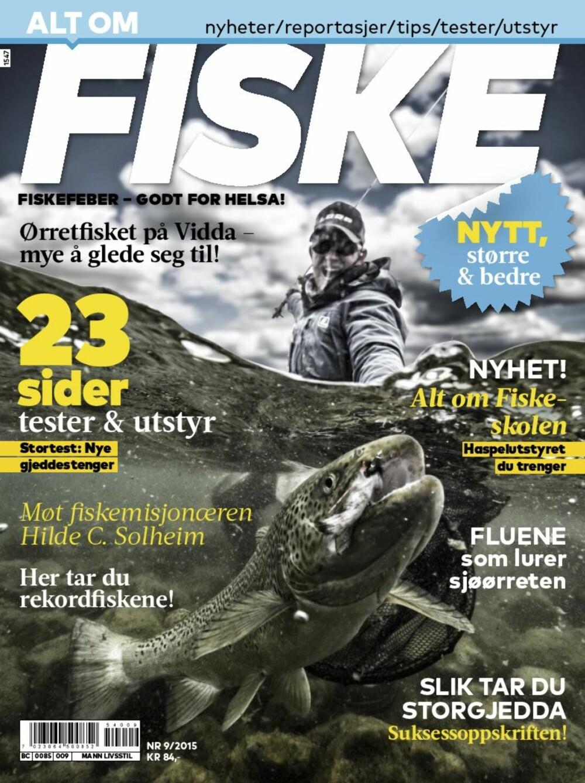 Forsiden til nye Alt om Fiske.