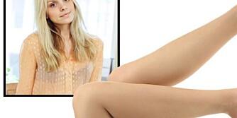 STRØMPEBUKSEFELLE?: Ifølge stylistene skal du tenke deg godt om før du tar på deg en hudfarget strømpebukse. Her med Anette von Osten.