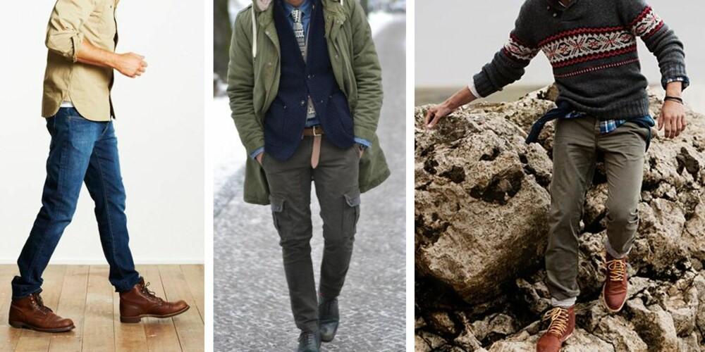 RUGGED: Her går det mye i jordfarger og materialer som tweed. Nøkkelplagg her er rutete skjorte og duffelcoat. Kan til tider se litt ut som han kommer rett fra skoghytta der han har hogd tømmer hele dagen.