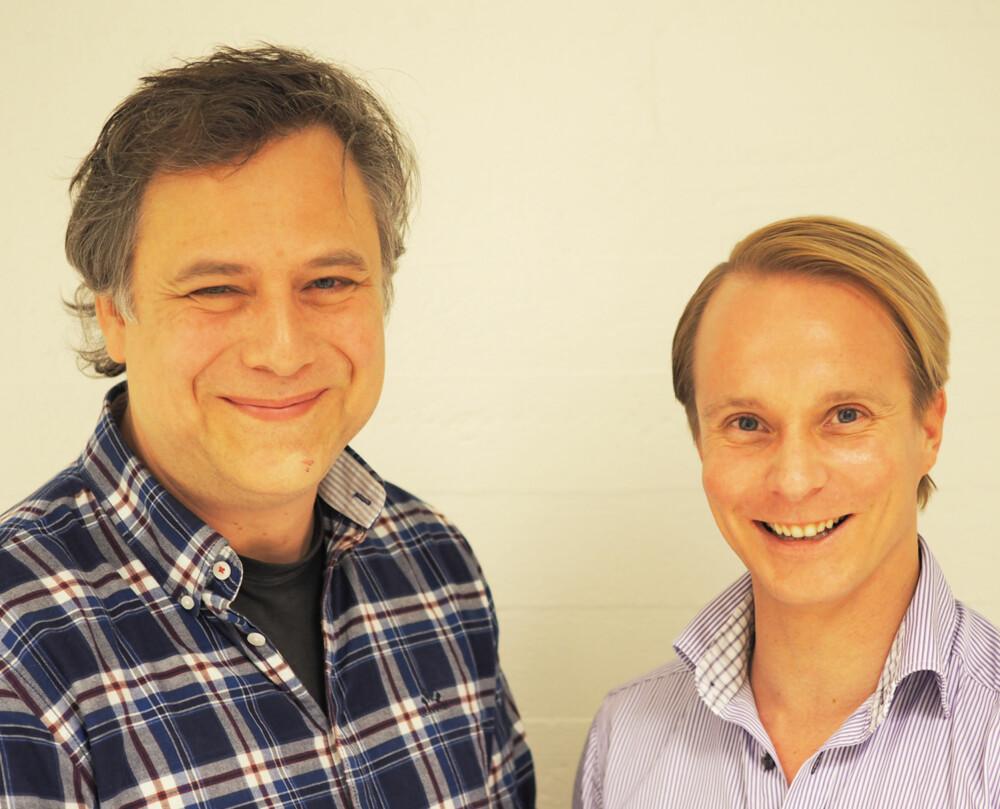 PLASTIKKIRURGI BLANT MENN: Både Anders Daaland (t.v.) og Petter Pilgaard har tatt hårtransplantasjon.