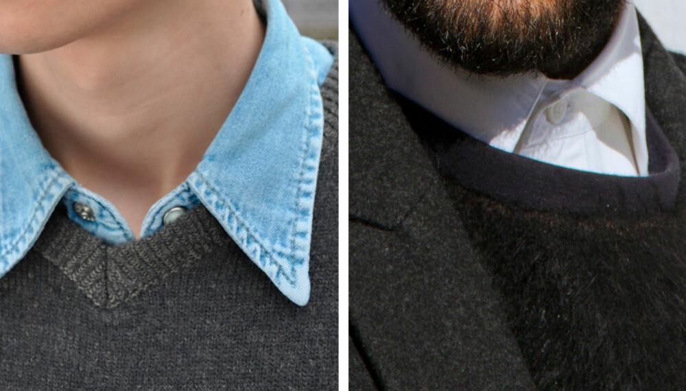 INNI ELLER UTENFOR: Kanskje det ikke er noe du tenker over, men hvordan du har skjortekragen har noe å si for antrekket sin helhet.