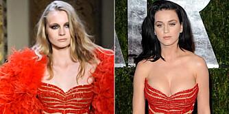 KJOLEDUELL: Hvem kler Zuhair Murad-kjolen best, modellen eller Katy Perry?