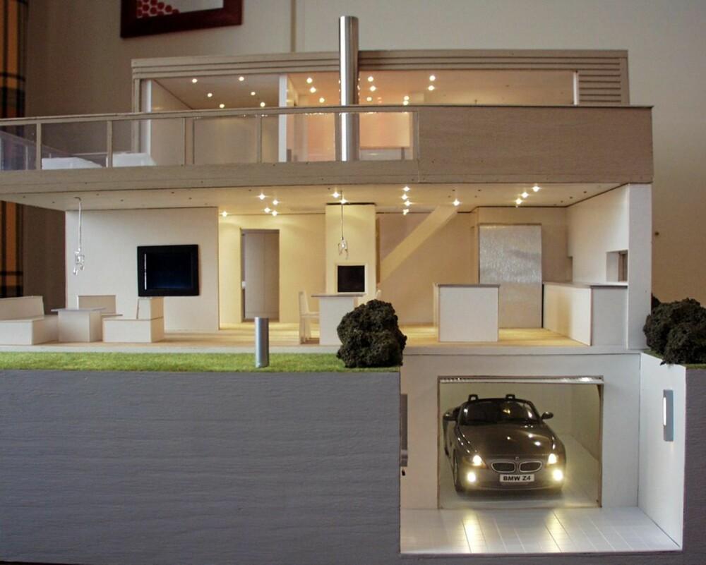 UT OG INNE: Utendørs og innendørs belysning, garasje, varme i huset, persienner; alt  lar seg integrere i smarthusløsninger.