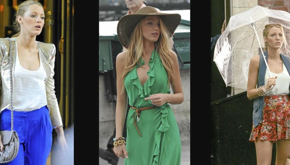 TRENDY SKUESPILLERINNE: Blake Lively deler stil med sin rollefigur Serena Van Der Woodsen, og er stilig antrukket til enhver anledning.