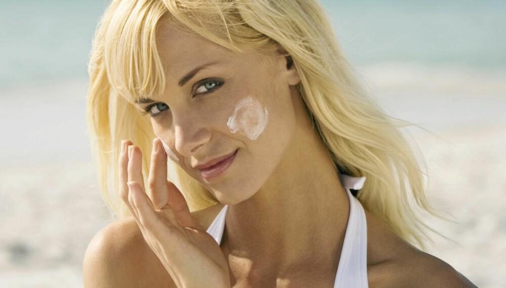 VIKTIG: Solkrem er viktig for å beskytte huden, men kan gi kviseutbrudd.