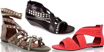 FRA VENSTRE: Friis & Co (kr 1199), Bronx (kr 625), Nelly Shoes (kr 179).