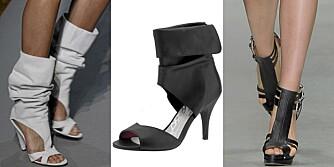SEXY SKO: Fra catwalken til Costume National, sko med cut-out og åpen tå fra Eurosko (kr 499).