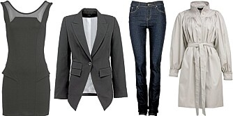 BASISGARDEROBEN: En sort kjole, blazer, jeans og trenchcoat er nøkkelplagg i enhver garderobe