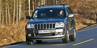JEEP GRAND CHEROKEE: Flere feil enn tyske konkurrenter. FOTO: Vi Menn Bil Top Gear