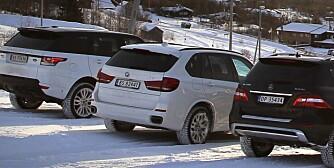 3 x stor SUV SML desember 2013 Range Rover Sport , Marcedes ML , BMW X5 Beitostølen