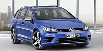 FAMILIEFART: Toppfarta til den nye VW Golf R stasjonsvogn er elektronisk begrenset til 250 km/t. FOTO: VW