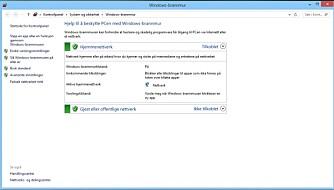 MUR: Windows Brannmur skal sikre at ingen får uautorisert tilgang til PC-en din.