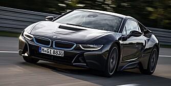 SUPER-i8: Bilen, som antagelig får navnet i8S, utvikles av BMWs i-avdelinG. FOTO: Produsent