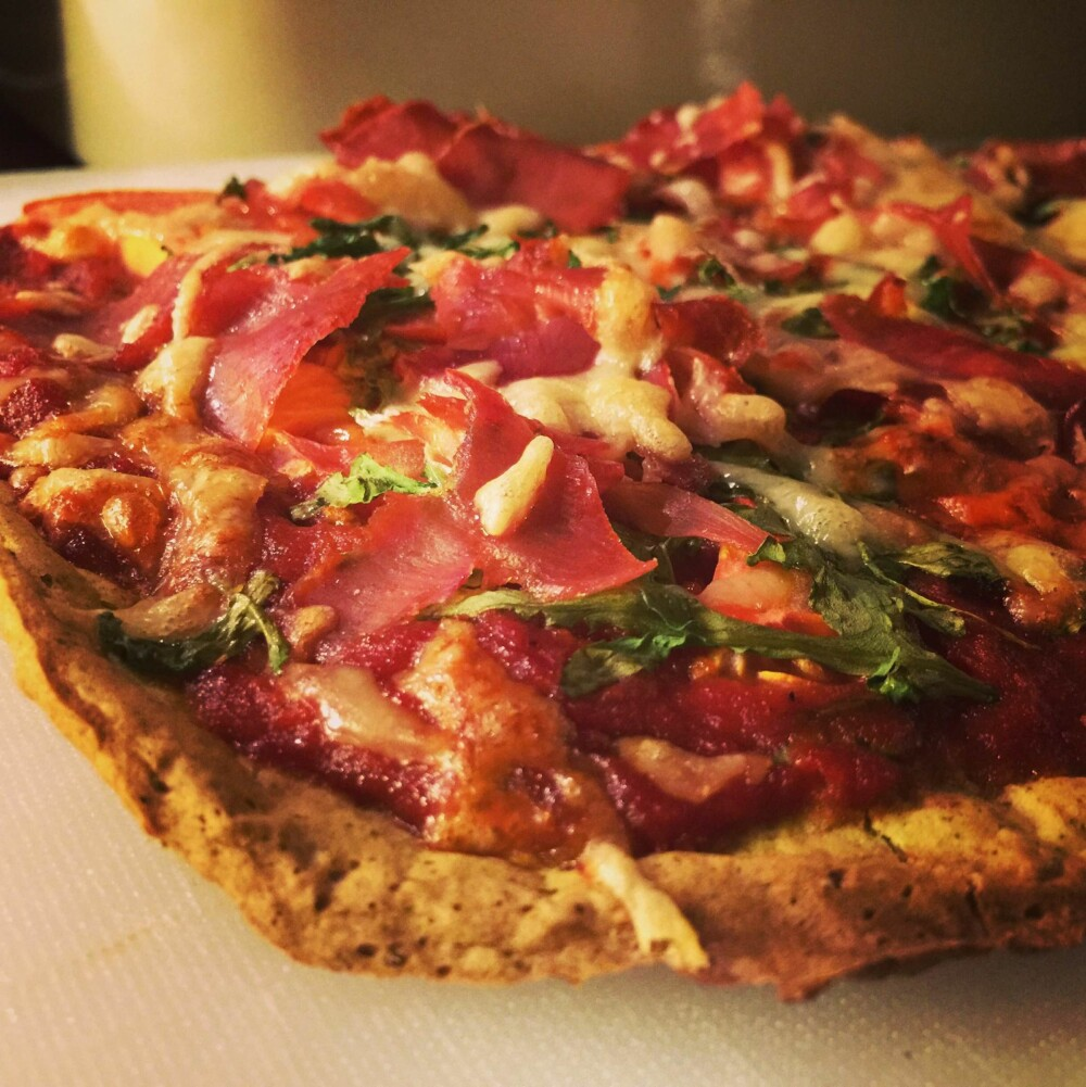 SUNN OG SPREK: Det var ikke gitt på forhånd, men pizza av blomkål og brokkoli var en skikkelig hit!