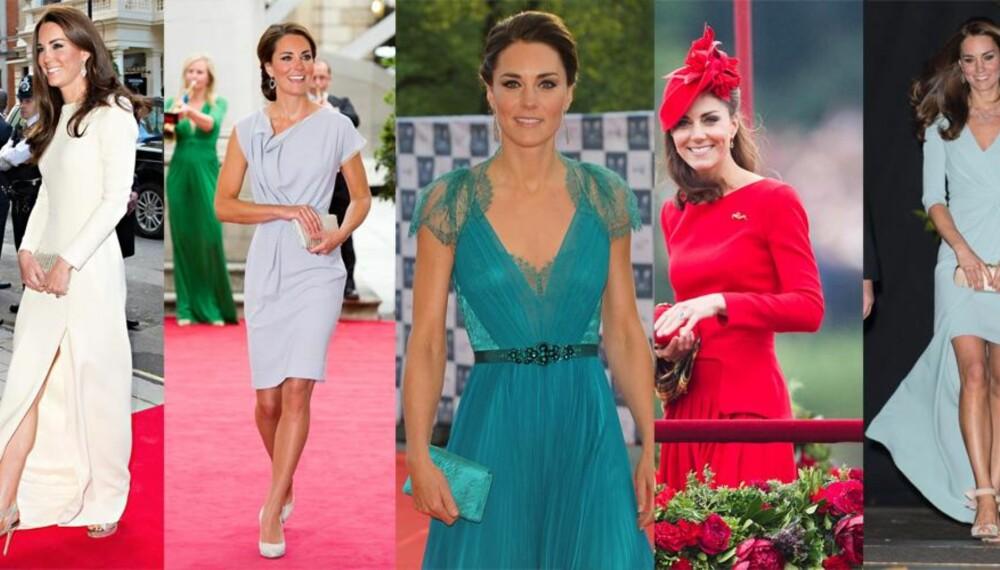 KATE THE GREAT: Hertuginnen av Cambridge har en forkjærlighet for lange kjoler, blonder og asymmetriske snitt. Med enkle triks kan du kopiere stilen.